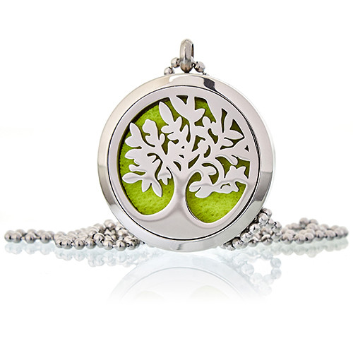 Aromatherapy Diffuser Necklace Tree of Life 30mm