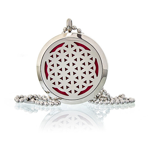 Aromatherapy Diffuser Necklace Flower of Life 30mm