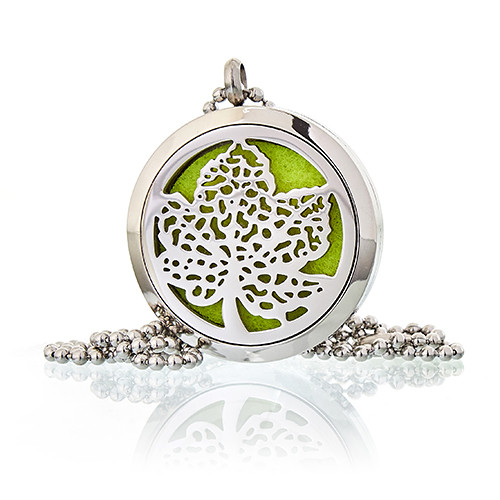 Aromatherapy Diffuser Necklace Leaf 30mm