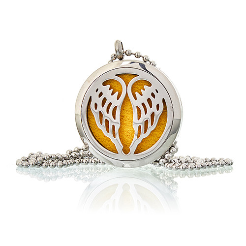 Aromatherapy Diffuser Necklace Angel Wings 30mm
