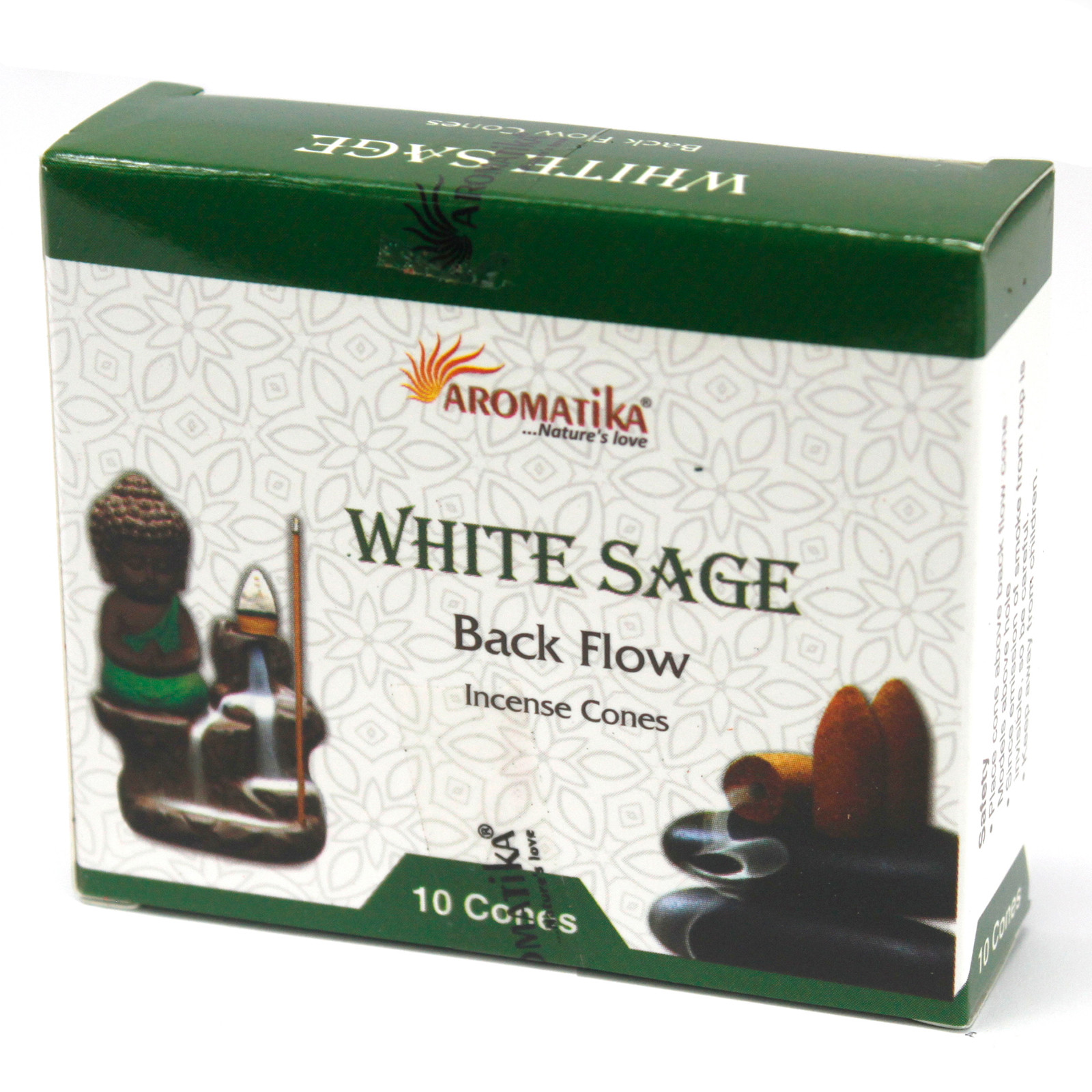 Aromatica Backflow Incense Cones White Sage