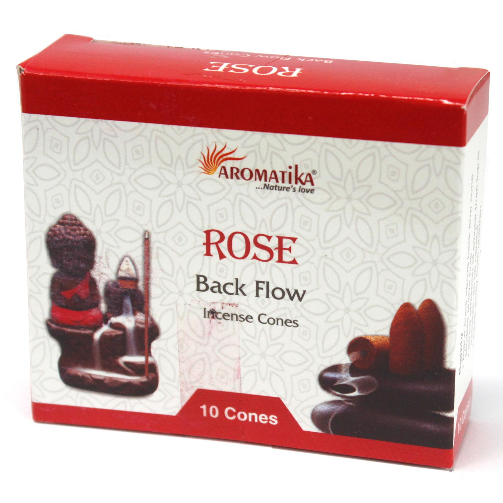 Aromatica Backflow Incense Cones Rose