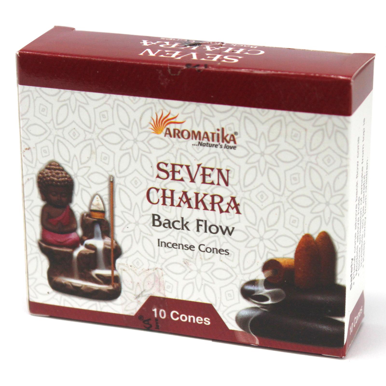 Aromatica Backflow Incense Cones 7 Charkras