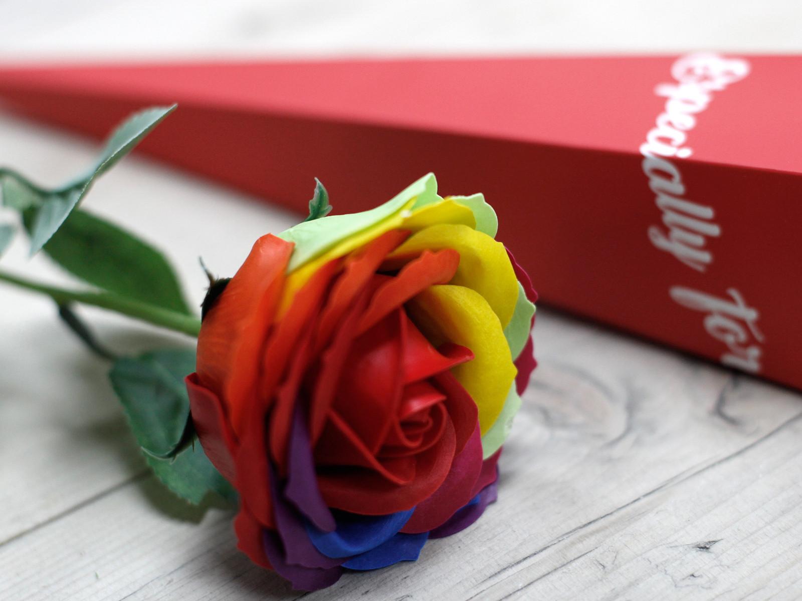 Luxury Soap Flower Rainbow