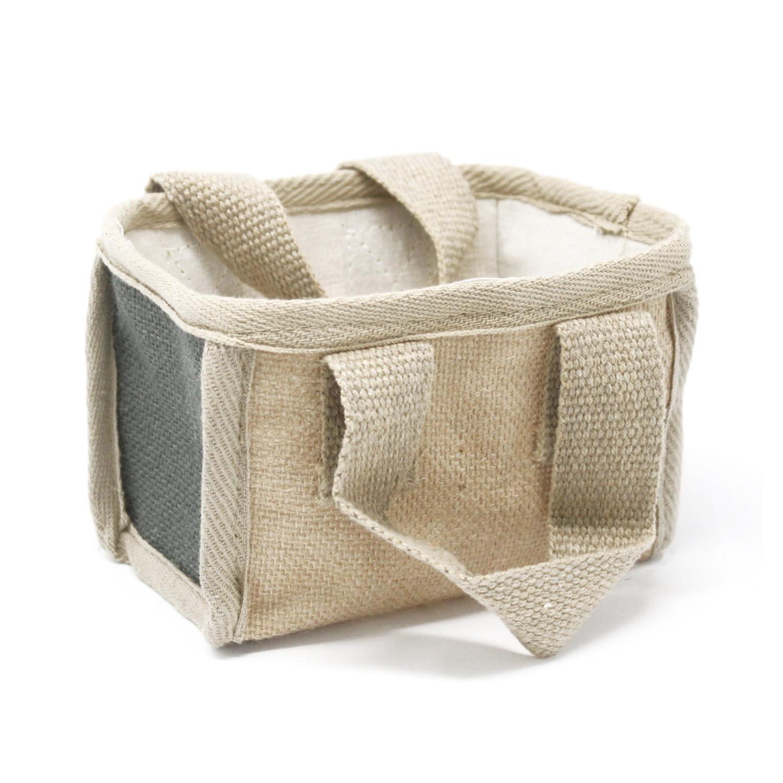 Mini Shopping Basket 16x10x12cm Charcoal