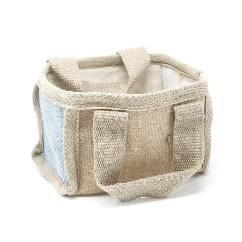 Mini Shopping Basket 16x10x12cm Teal