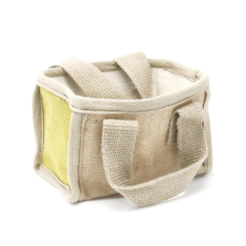 Mini Shopping Basket 16x10x12cm Olive