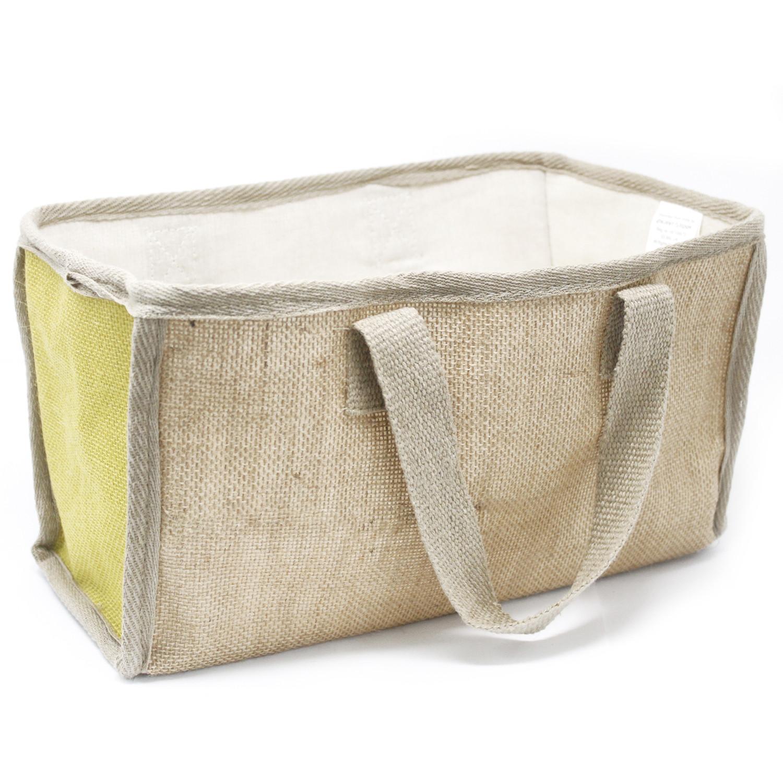 Lrg Shopping Basket 33x18x20cm Olive