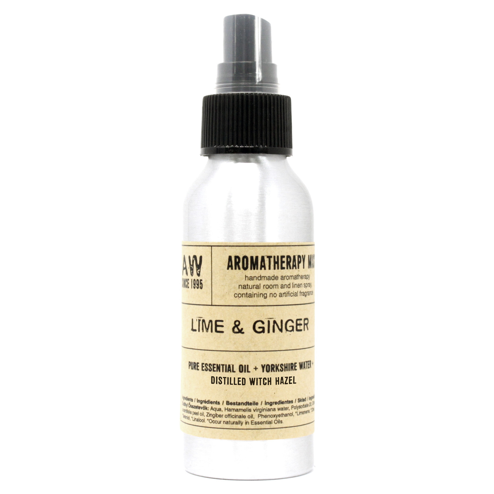 100ml Essential Oil Mist Lime and Ginger