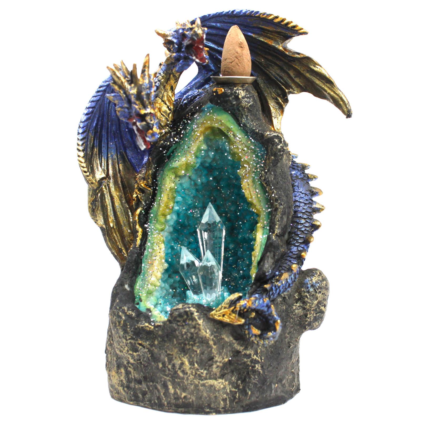 Dragon with Crystal Cave LED Backflow Incense Burner