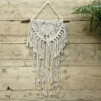 Macrame Wall Hanging Home and Heart