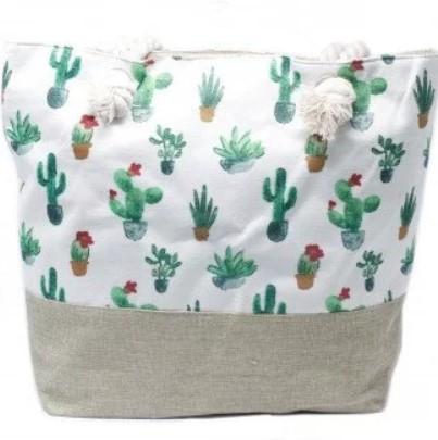 Rope Handle Bag Mini Cactus