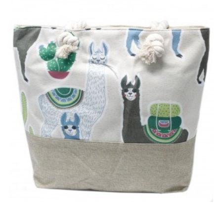 Rope Handle Bag Llamas