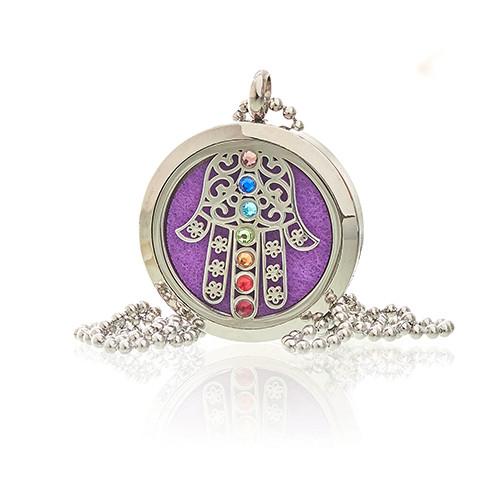 Aromatherapy Jewellery Necklace Hamsa Chakra 30mm