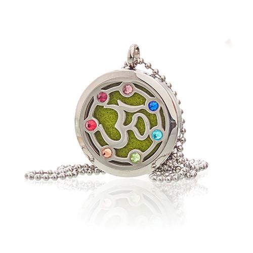 Aromatherapy Jewellery Necklace OM Chakra 30mm