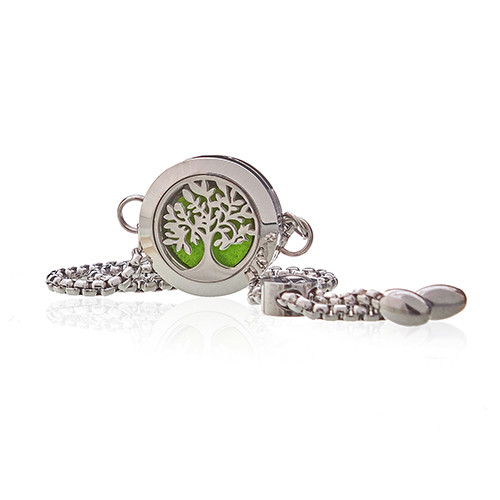 Aromatherapy Jewellery Chain Bracelet Tree of Life 20mm