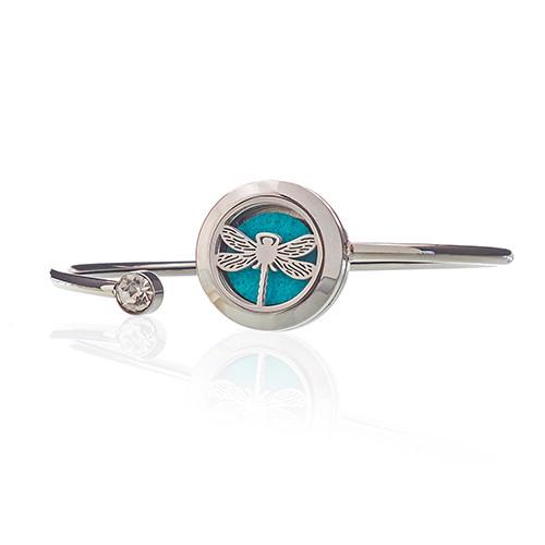 Aromatherapy Jewellery Crystal Bracelet Dragonfly 20mm