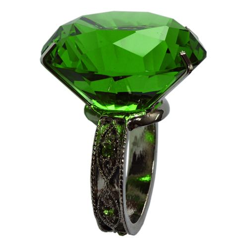 Crystal Napkin Ring Green