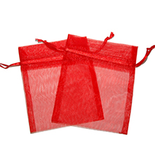 Small Organza Bags Red