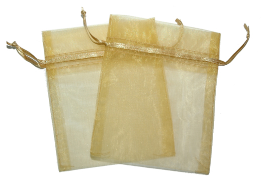 Small Organza Bags Gold