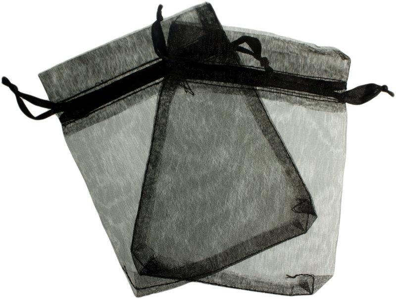 Small Organza Bags Black