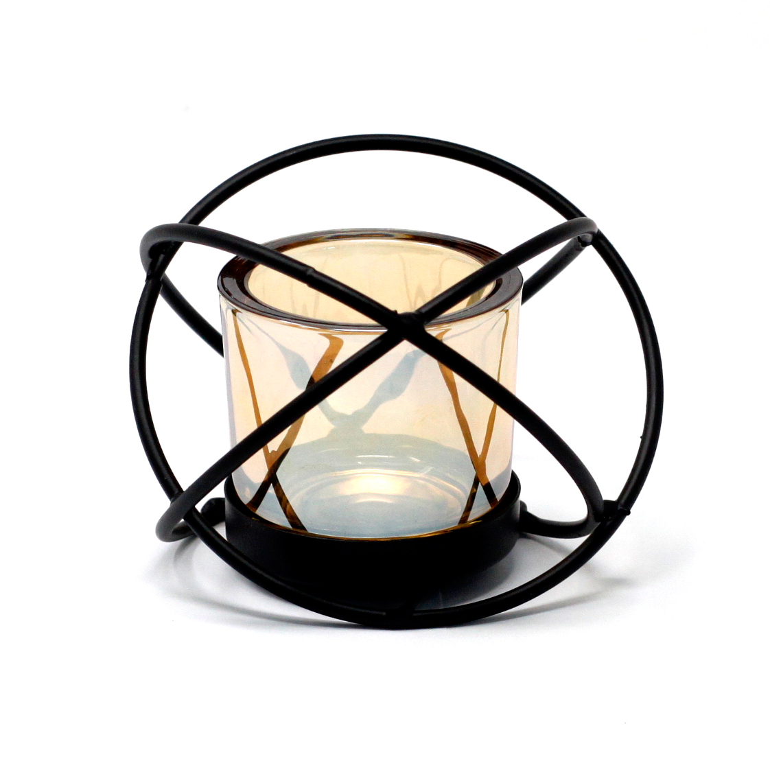 Centrepiece Iron Votive Candle Holder 1 Cup Single Ball