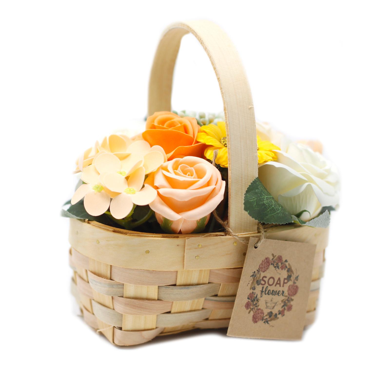 Medium Orange Bouquet in Wicker Basket