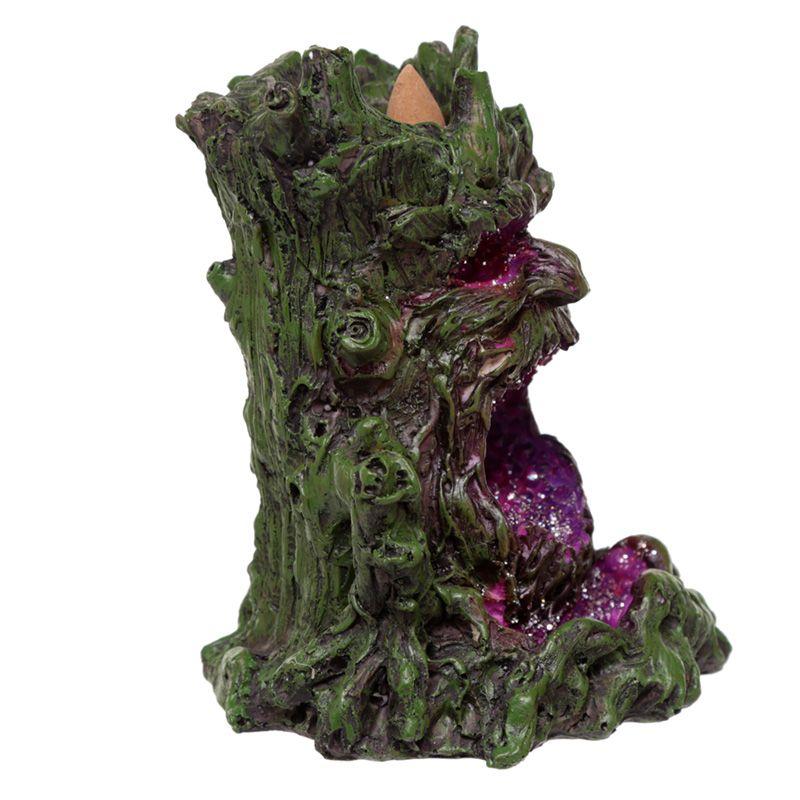 Crystal Green Man LED Backflow Incense Burner - AW ...