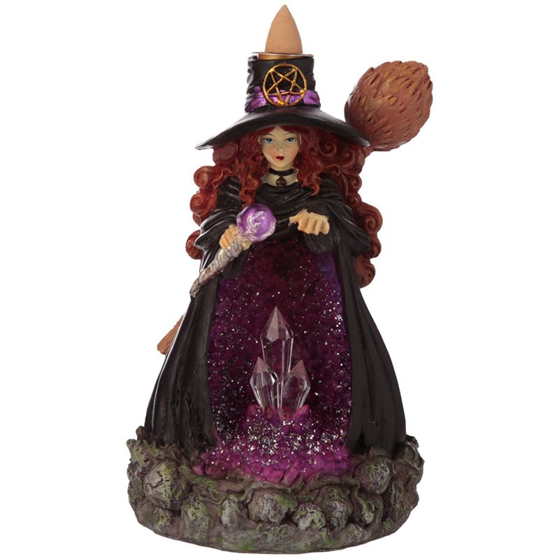 Witches Crystal Cave LED Backflow Incense Burner