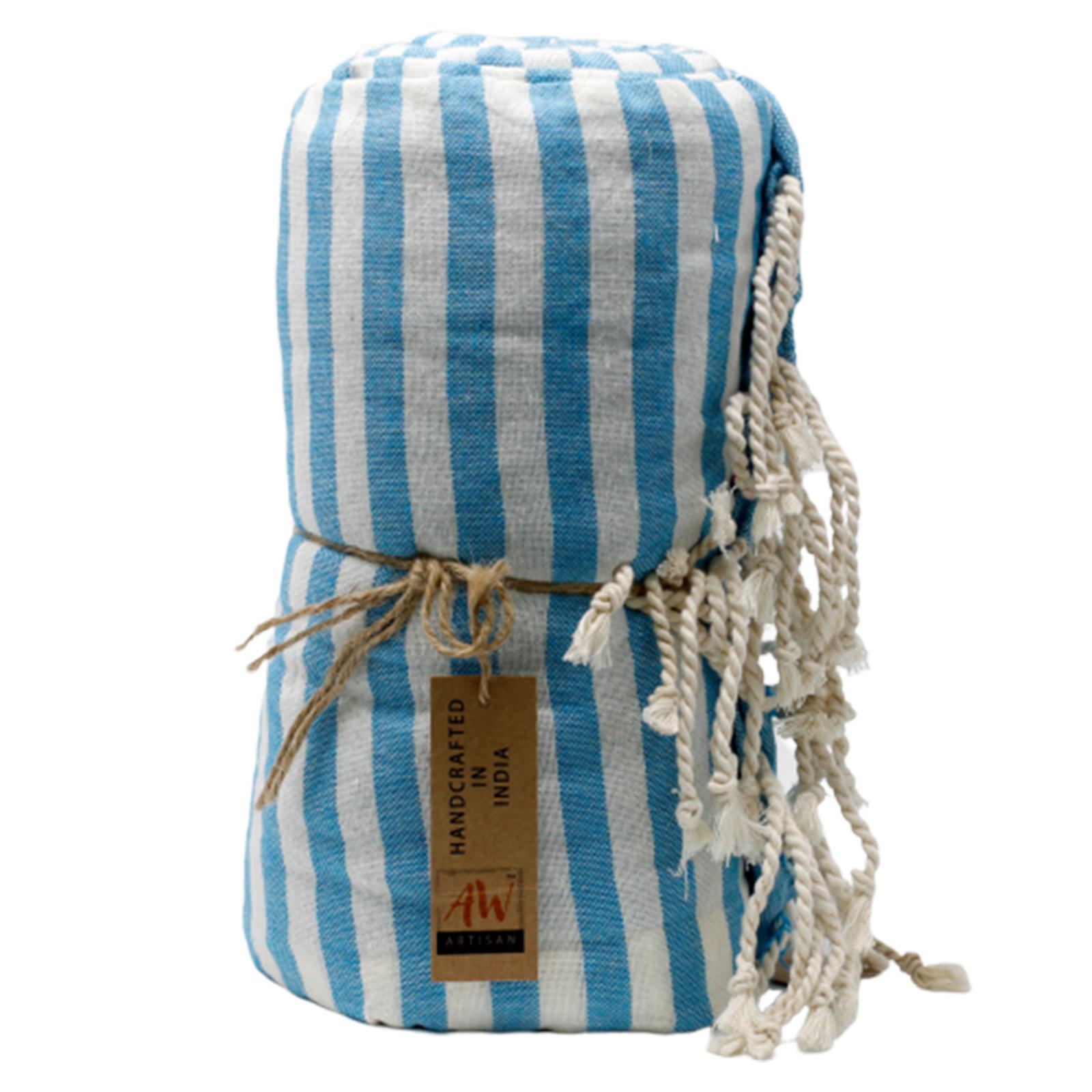 Cotton Pario Towel 100x180 cm Sky Blue