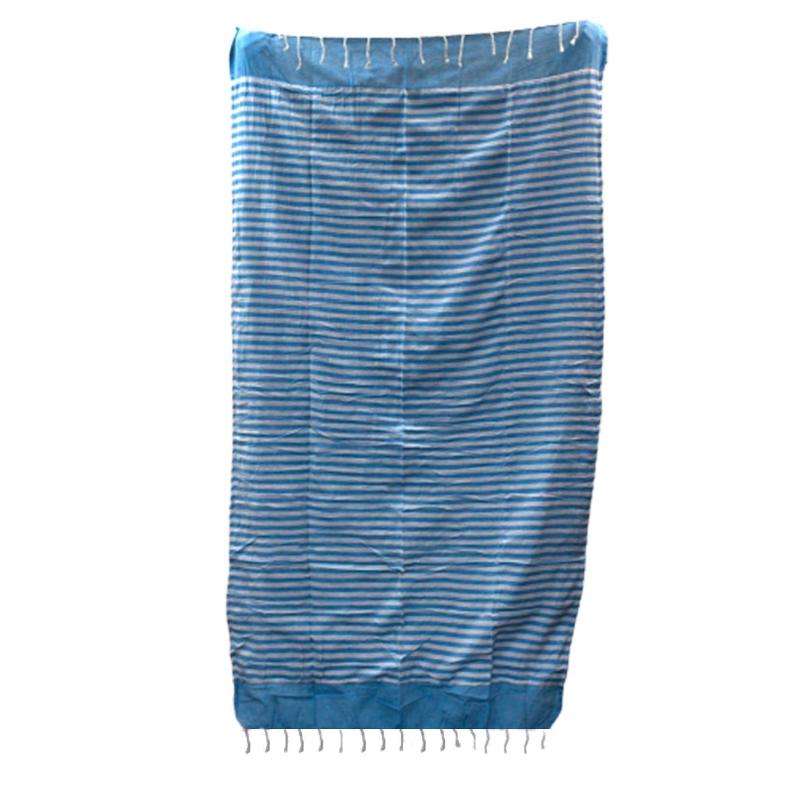 Cotton Pario Throw 100x180 cm Sky Blue