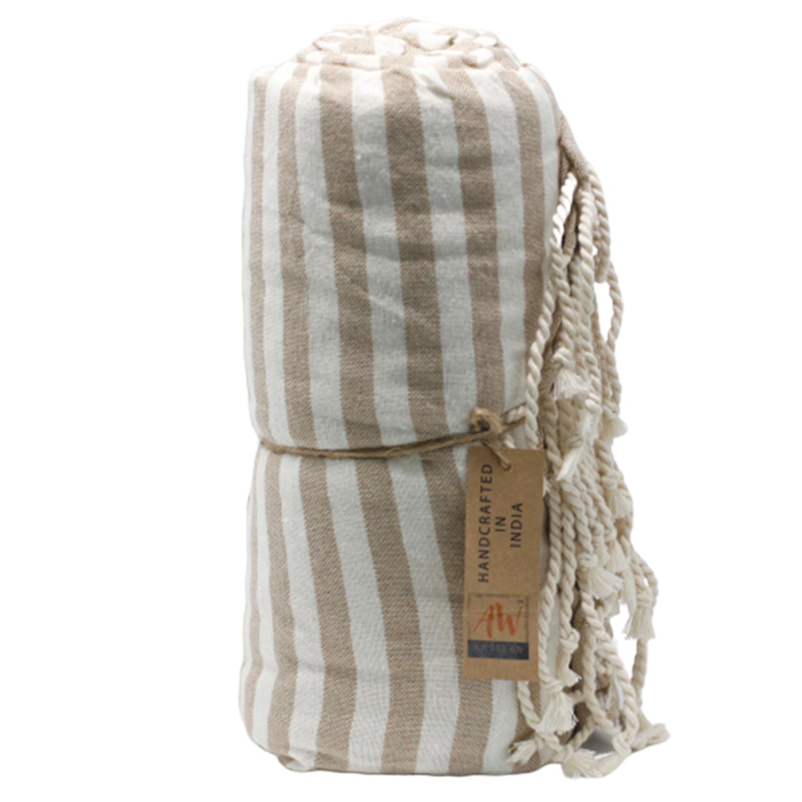 Cotton Pario Towel 100x180 cm Warm Sand
