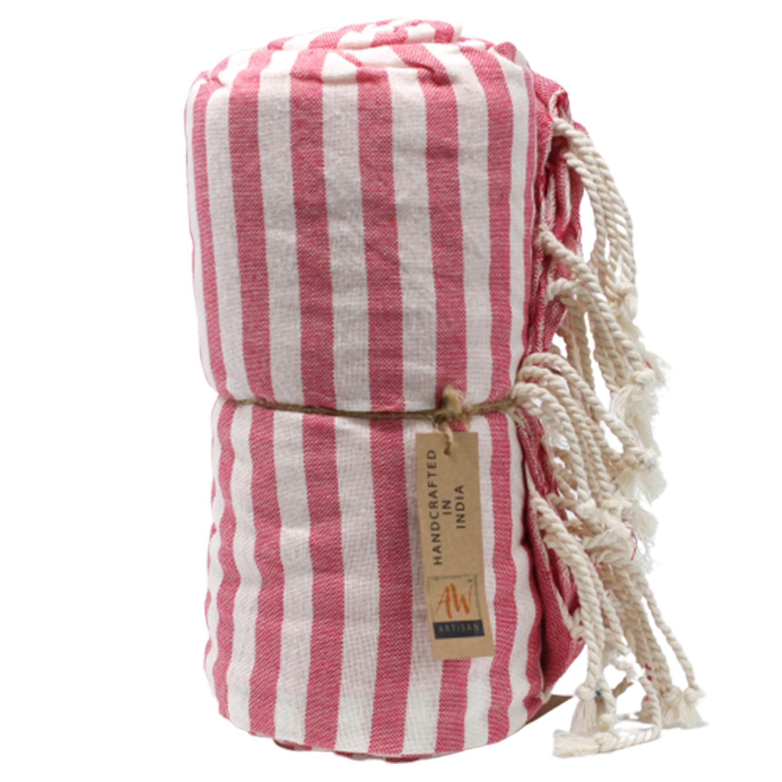 Cotton Pario Towel 100x180 cm Hot Pink