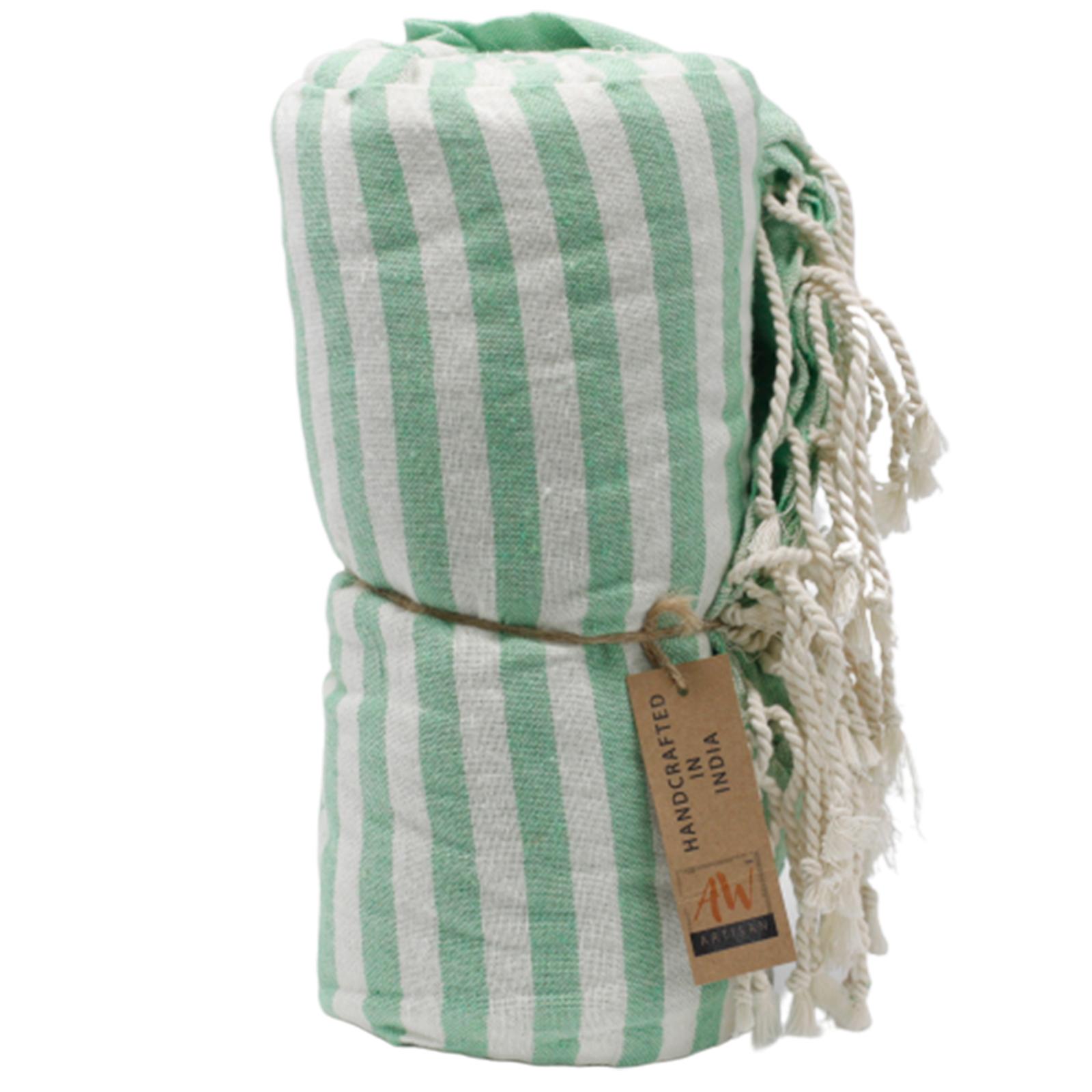 Cotton Pario Towel 100x180 cm Picnic Green