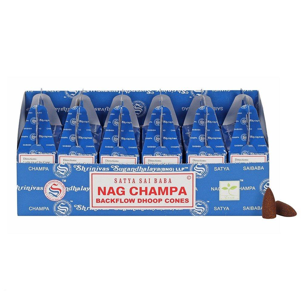 Satya Backflow Dhoop Cones Nag Champa 24pcs