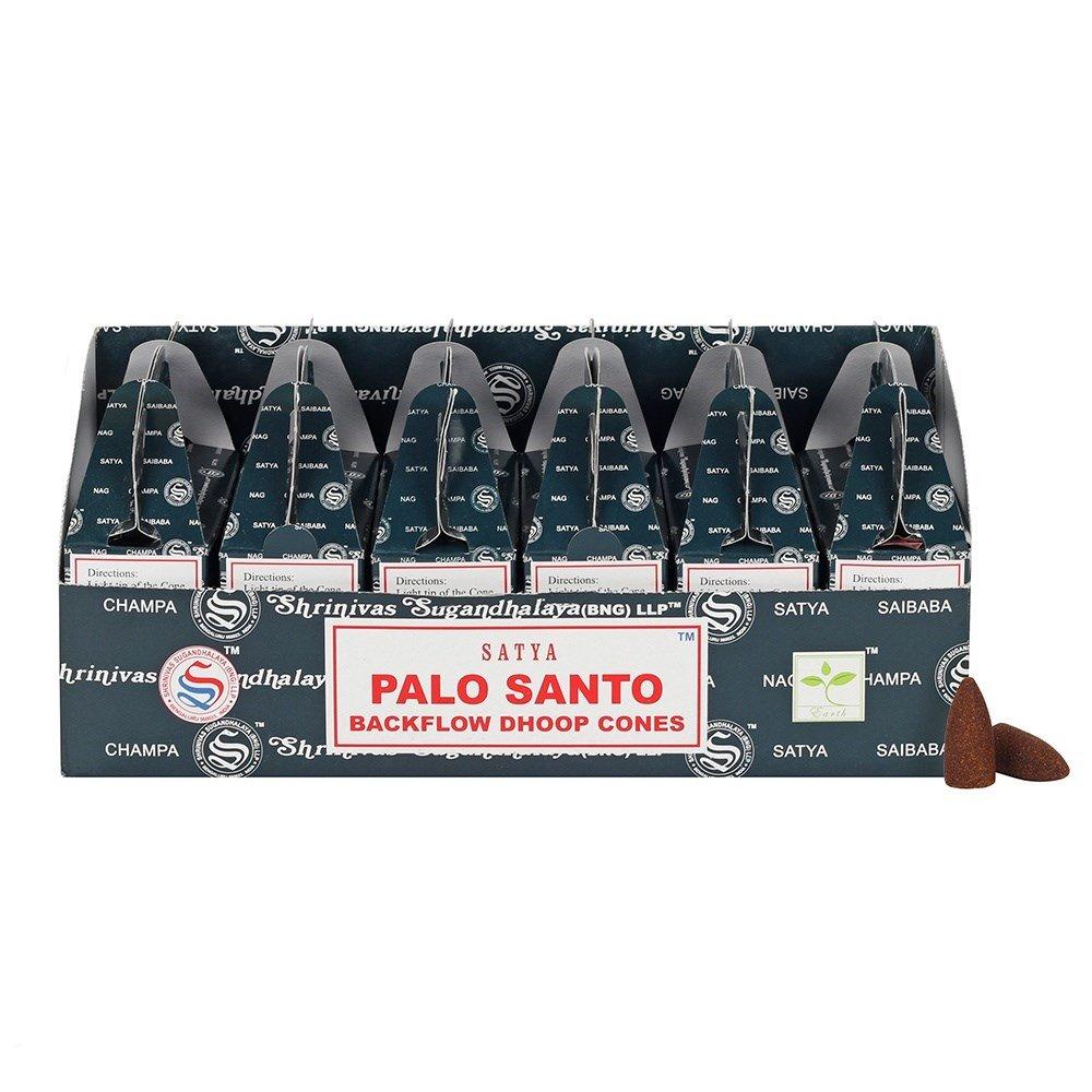 Satya Backflow Dhoop Cones Palo Santo 24pcs