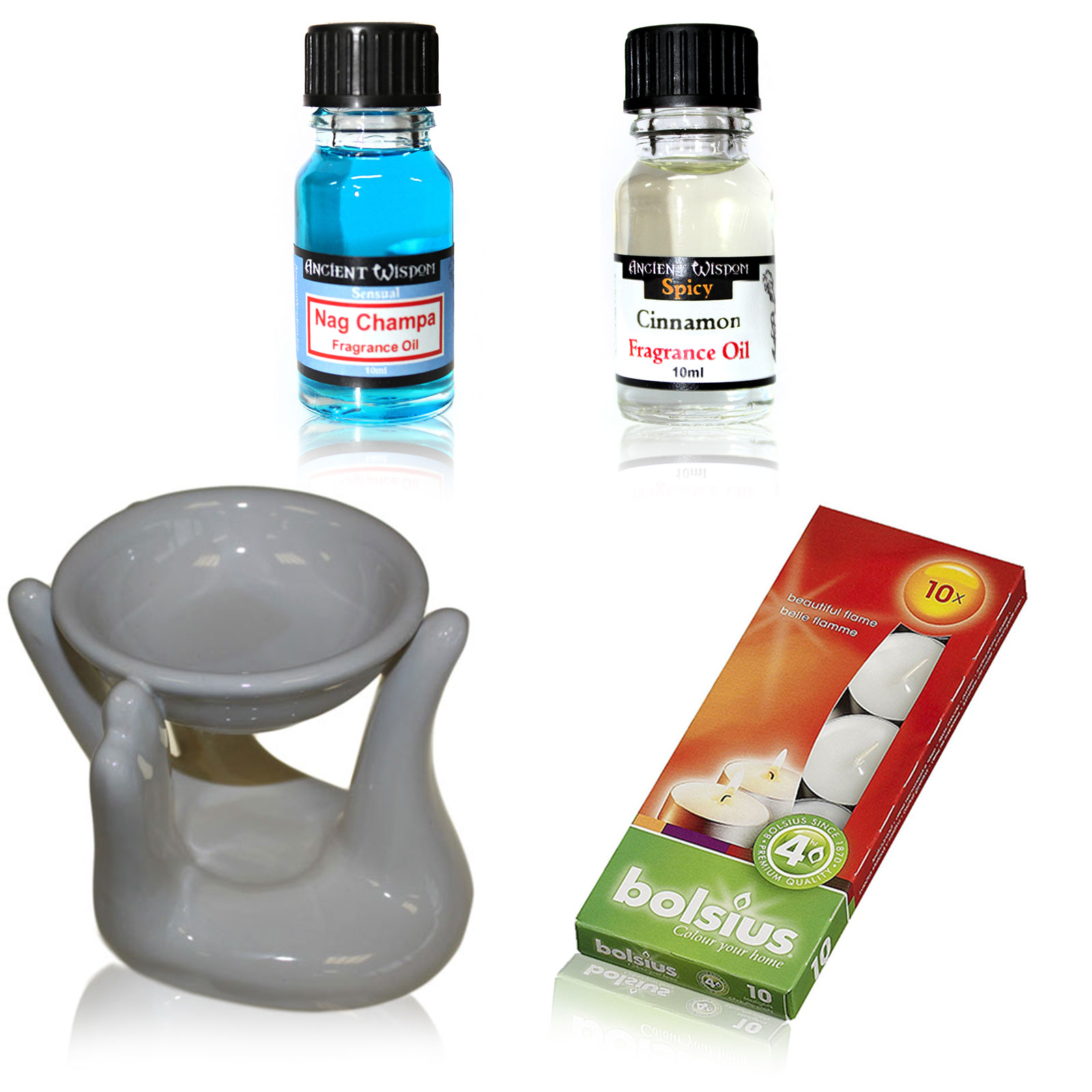 Oil Burner Kit Nag Champa  Cinnamon