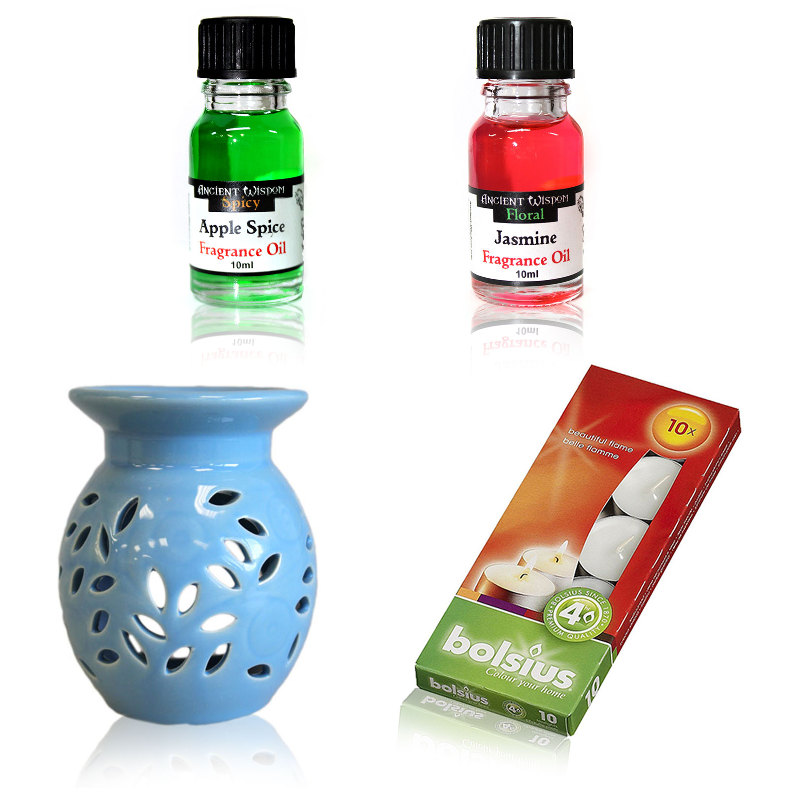Floral Oil Burner and Fragrance Oils Kit
