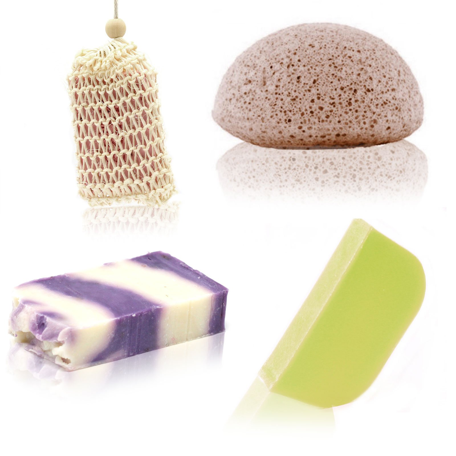 Soap Solid Shampoo And Sponge Treat Box