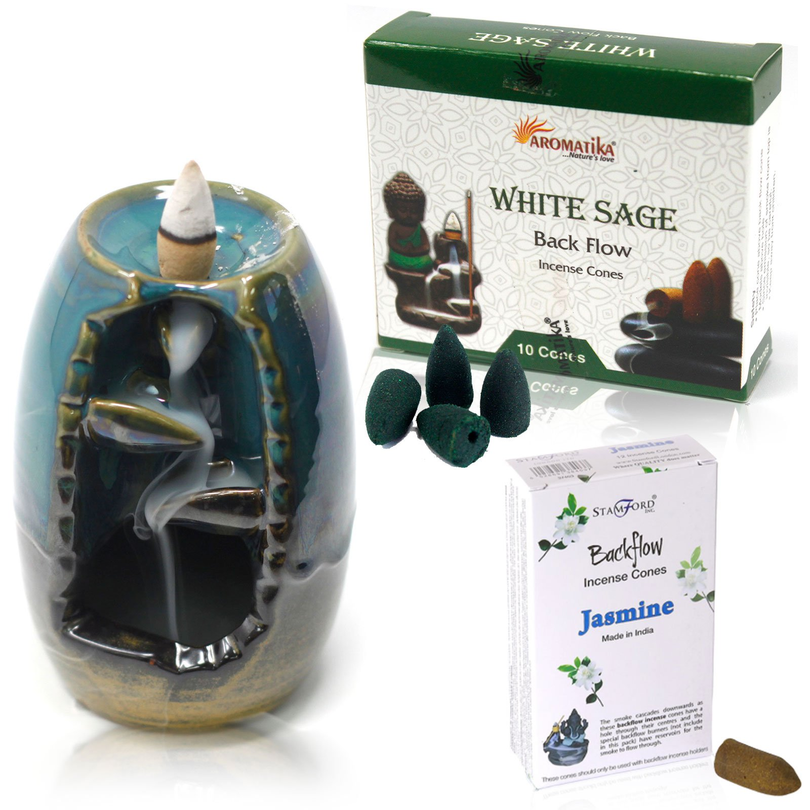 Backflow Incense Burner Kit