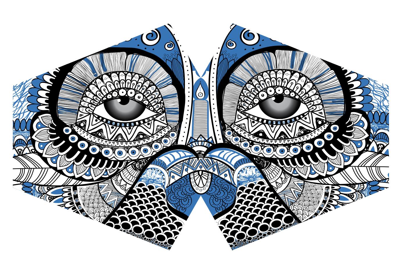 Reusable Fashion Face Mask Mystical Owl Adult