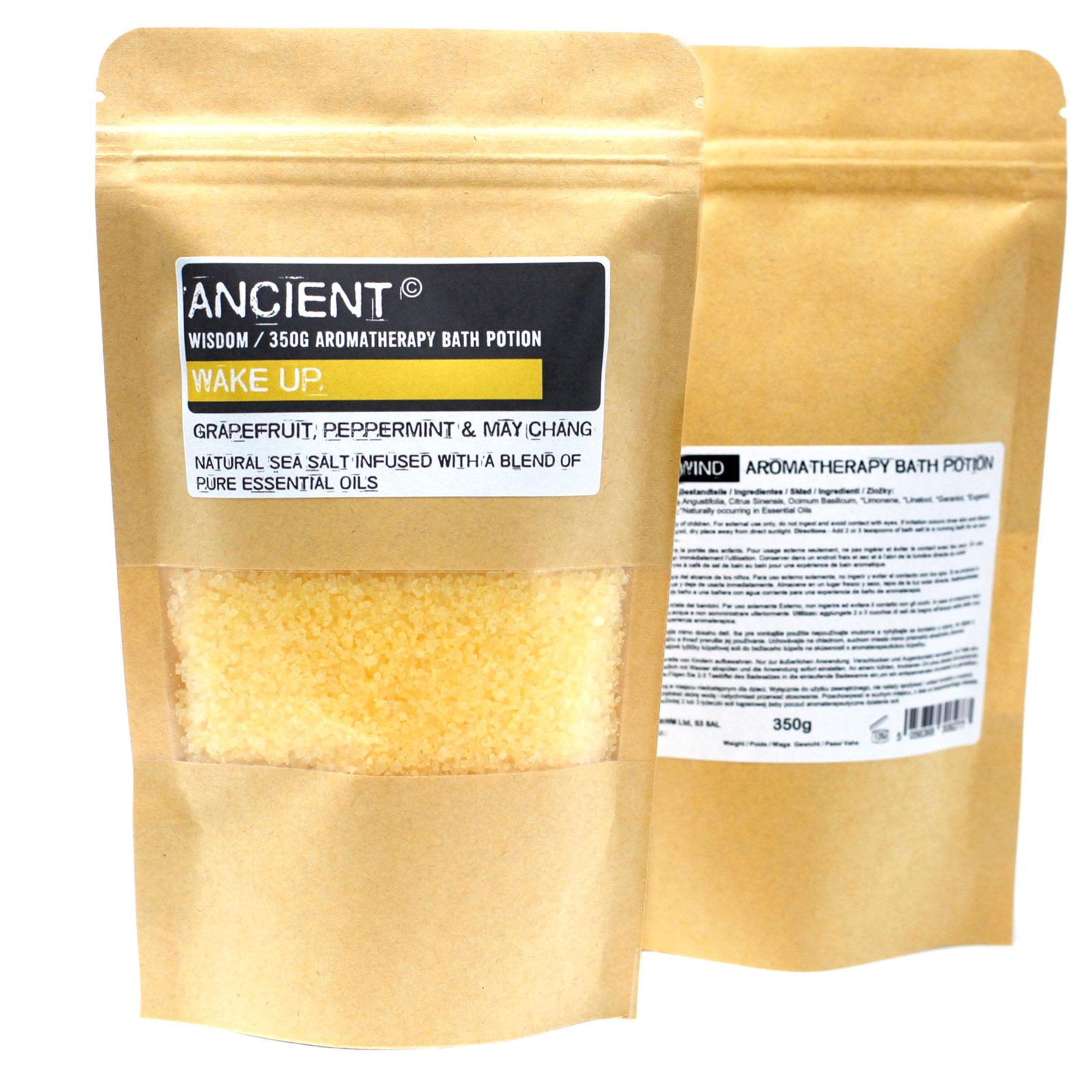 Aromatherapy Bath Potion in Kraft Bag 350g Wake Up
