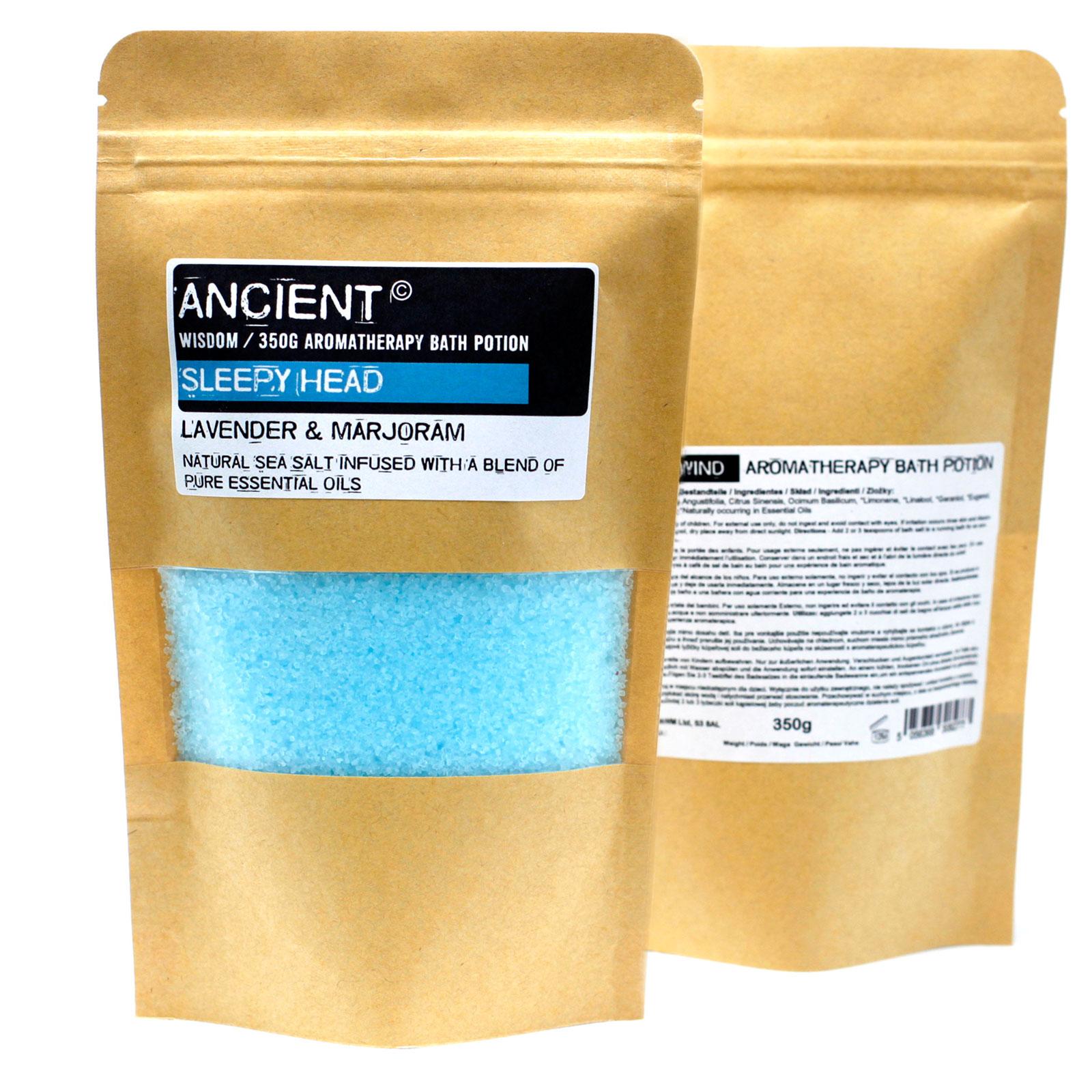 Aromatherapy Bath Potion in Kraft Bag 350g Sleepy Head