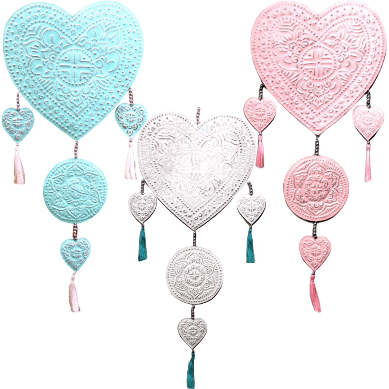 Aluminium Mobile Hearts assorted colors