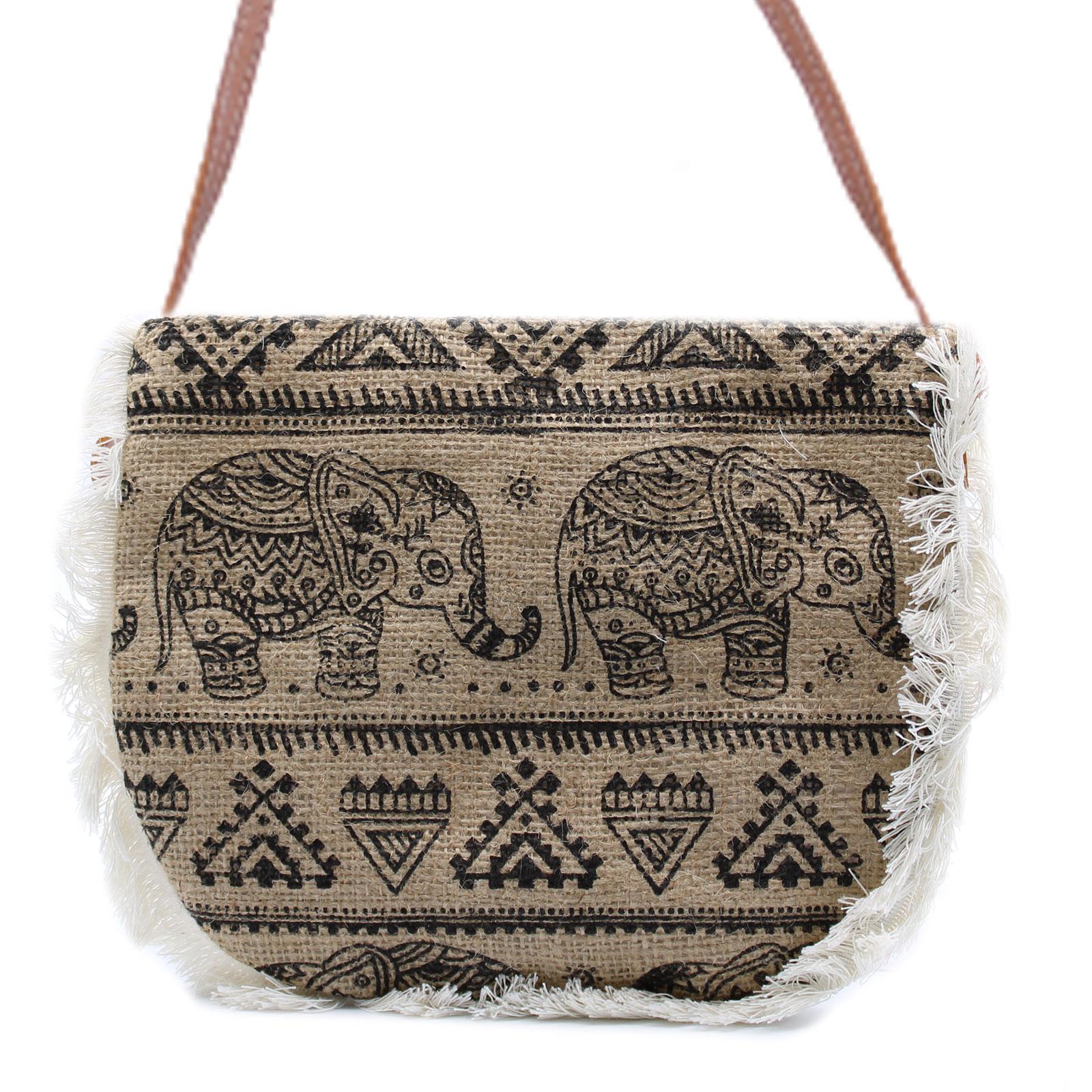 Fab Fringe Bag Elephant Print