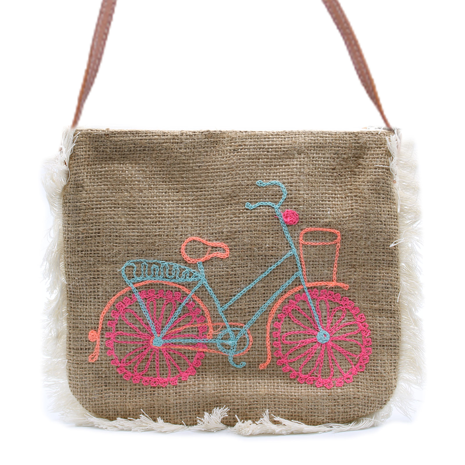 Fab Fringe Bag Bicycle Embroidery