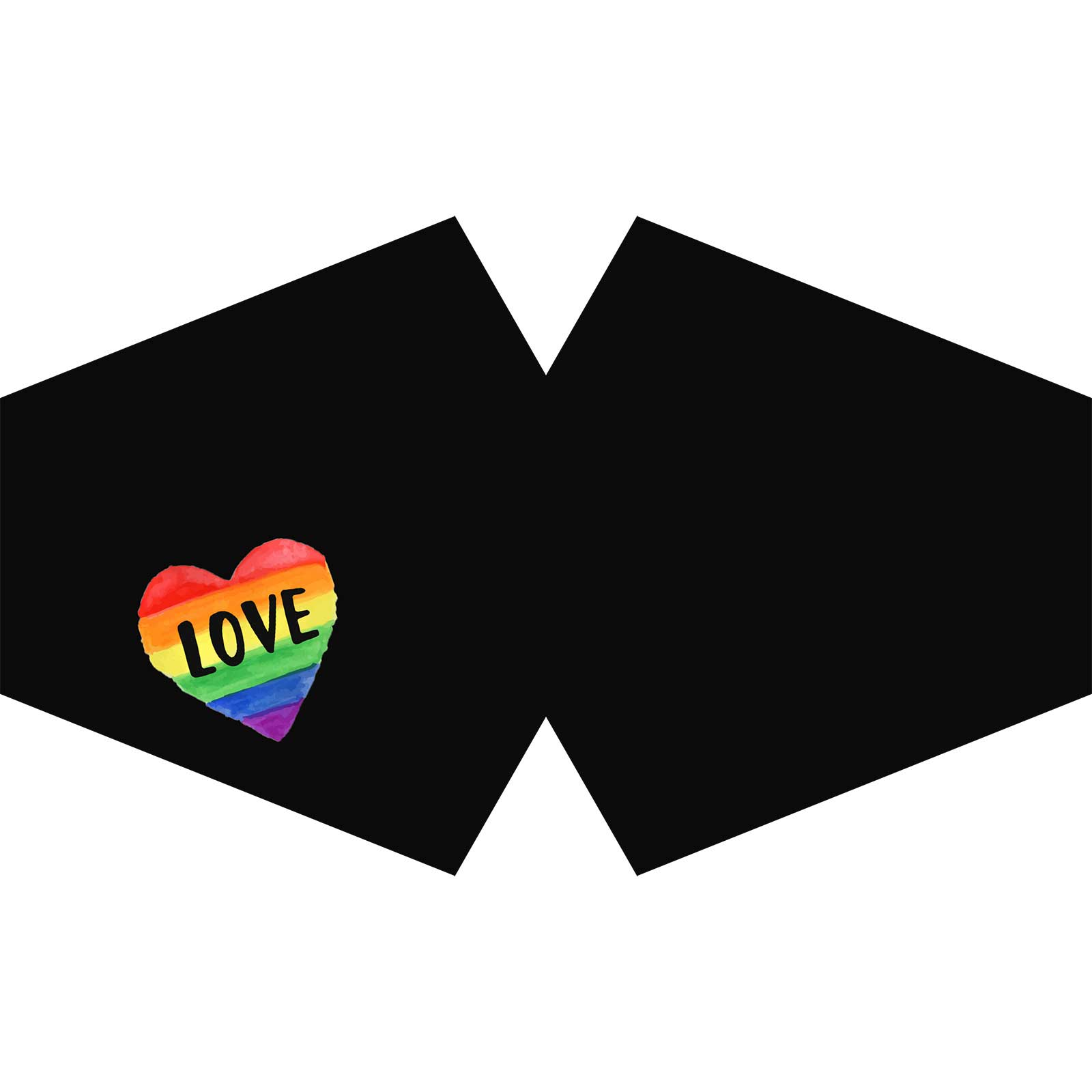Reusable Fashion Face Covering Love is Love Adult