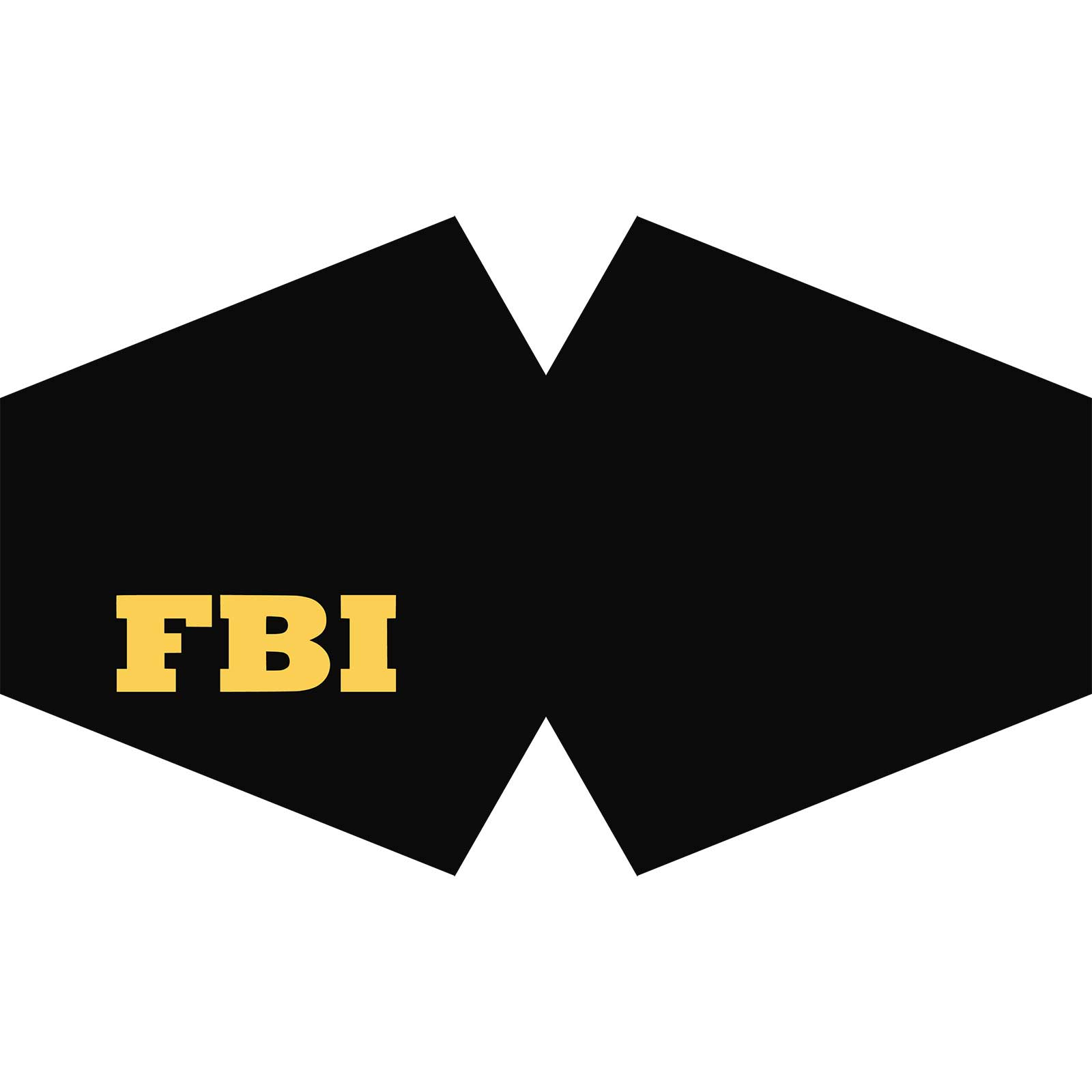 Reusable Fashion Face Covering FBI Adult