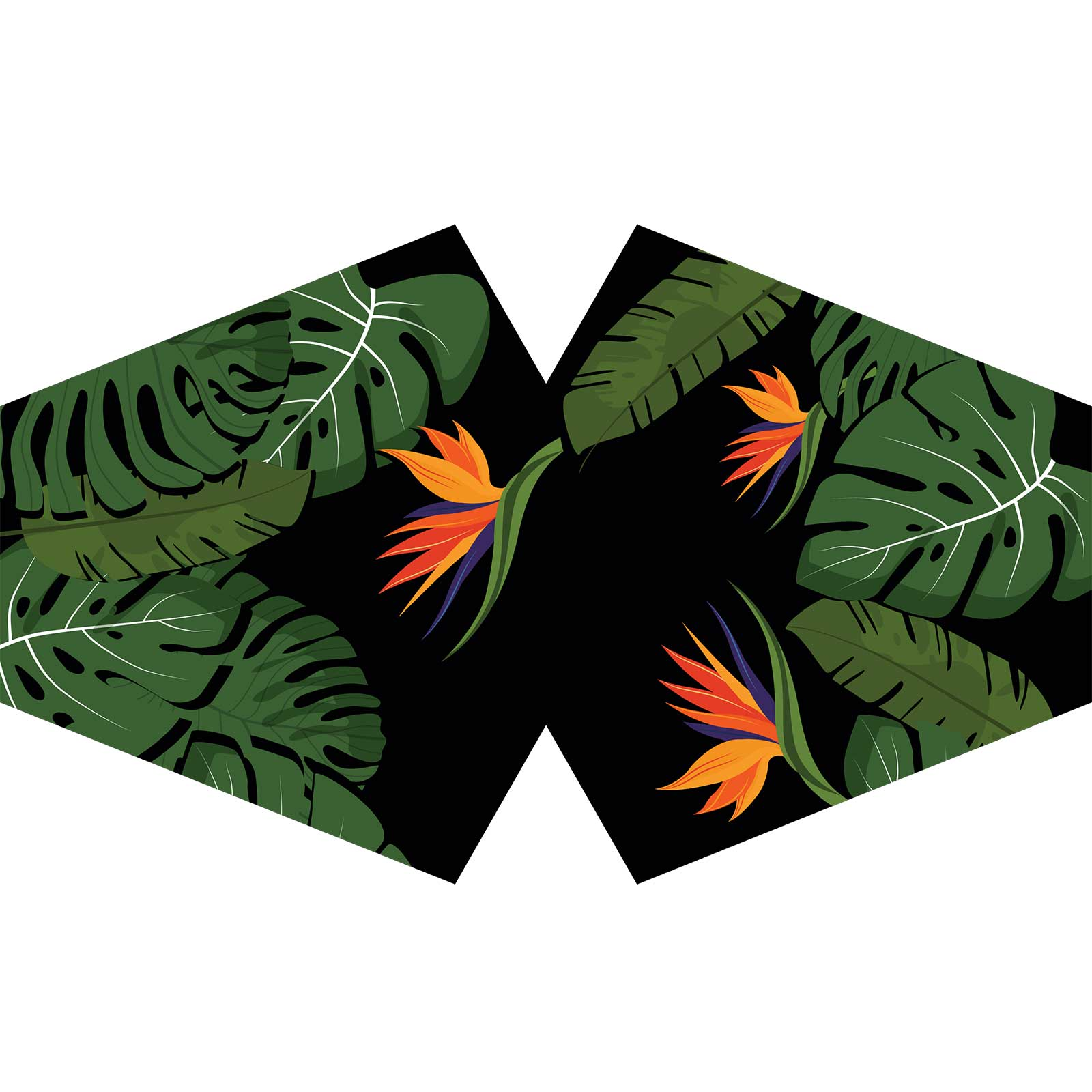 Reusable Fashion Face Covering Green Jungle Adult
