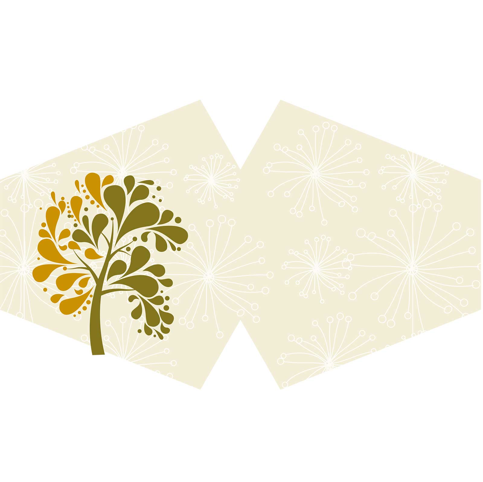Reusable Fashion Face Covering Golden Tree Adult